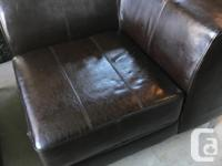 Chocolate Brown Faux Leather Couch Need to make room so