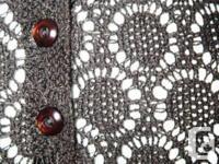 Chocolate Brown Crochet Tank Top / Sleeveless / Cami -