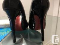Used , the heel is only damaged in the bottom front of