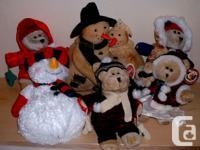 Assorted Christmas Ornaments & Plush Lot 1 : 4 Plush