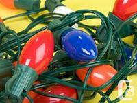 ten (10 ) Strands of Christmas tree lights, both indoor
