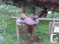 Circle Y Equitation Show Saddle - 16 Inch seat. Very