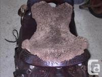 """Seat 16"""" Gullet 7"""" Comes with: Custom Saddle Bags With"""