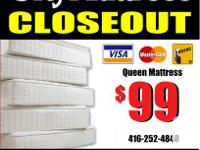 CITY MATTRESS Ⓡ CLOSEOUT. Delivery $10.  Now