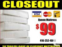 CITY MATTRESS Ⓡ CLOSEOUT. Delivery $10.  Come to