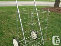 Vintage 1960's Laundry / Grocery store 2 Wheeled Cart -