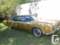 Make Lincoln Model Continental Year 1973 Colour Gold
