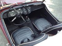 Make Triumph Model TR3 Year 1960 Colour Red Trans