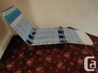 vintage plastic vinyl tube band seat folding chair.