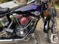 1971 Harley old school . Just completed full rebuild /