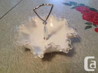 Below is a Vintage Mint Condition Ruffled-glass
