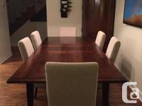 This classic dining table is versatile and will easily