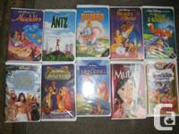 ALL VHS TAPES:     They are all in excellent to like