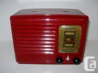 Available is this gorgeous Emerson tube radio. Made in