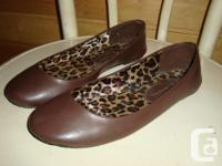 Traditional ballet flats in a rich delicious chocolate
