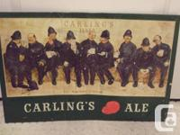 I have up for sale a vintage Carling's Ale tin metal