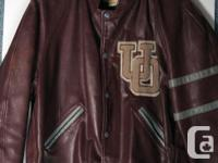 University Style Natural leather Coat. College of