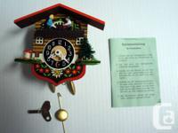 Vintage Tiny West German Cuckoo Clock - Mechanical Wall