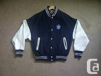 Toronto Maple leaf hockey bomber jacket in near new