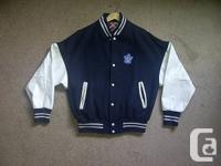 Toronto Maple leaf hockey bomber jacket in near new