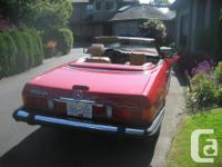 Make Mercedes-Benz Model 500SL Year 1989 Colour RED