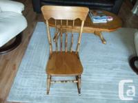 Just refinished, vintage nursing shaking chair. Would