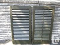 This set of shutters will certainly be sold with each