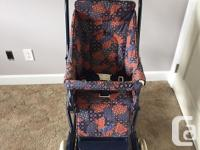 Older Style Peg Perego Stroller with Bassinet in GREAT