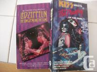 Available are 2 VHS video clips of Led Zepplin -The