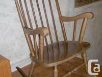 Solid timber Rocker initially acquired in 1974, one
