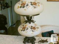 Offering a Vintage Storm Light - Blossom pattern.