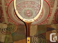Classic Wood Battery Donnay Tennis Racquet 4 1/2 L. The
