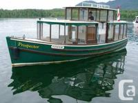 Classic 1928 built 12 passenger tour boat with all the