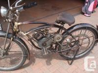 Two 1948 WHIZZER BIKES,,,, ONE IN ORIGINAL FORM THE