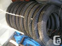 I have 9 new Canadian made Design A tires 4.50 / 5.00 /