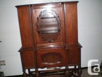 Solid Timber China Cupboard Made of French & & American