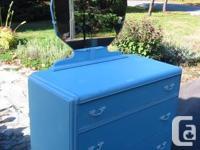 Unique Vintage Blue Dresser done in Beautiful