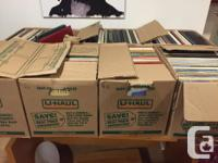500 plus Vinyl Records covering a wide genre of