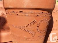 I am looking for one or two large terracotta clay
