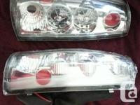 I have a set of clear and chrome tail lights with red