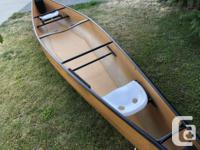 """The canoe is a 17'6"""" Clipper Tripper built in 2009."""