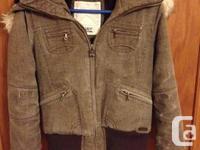 TNA Brown winter coat size medium $75 Black peacoat