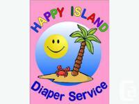 Happy Island Diaper Service delivers fresh clean cloth