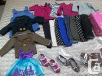 2 coats/ 2dresses/ tights/7 pants/ 4 tops/2 pairs of