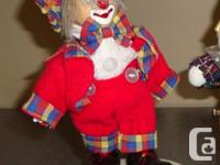 - Set of 5 clowns in total (see photo) - Asking $5 for