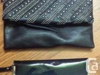 Aldo Foldover clutch NEW with no tags $15  Black Patent