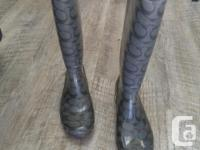 A pair of Coach Gum Boots, great and stylish in the wet