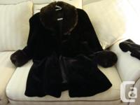 Faux Fur Winter Coat - Mint condition Purchased at
