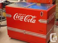 1942 coca soda pop cooler fully brought back. as far as