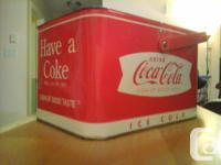 This Coca Cola Logo Tin Picnic Basket Box (Replica) is